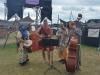 Das Lagerorchester beim Markttag