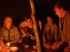 Die spontane Liedgilde in der Feuerrunde
