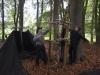 Die Elche Bauen ihren Lagerplatz um zur stolzen Schmiede