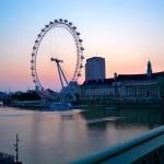 Sonnenaufgang vor dem London Eye