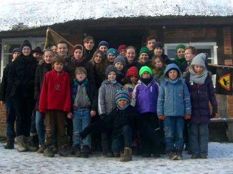 Das Stammesfoto vom Tyrker Hof auf dem Winterlager 2014