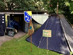 Aufbau Gartenfest